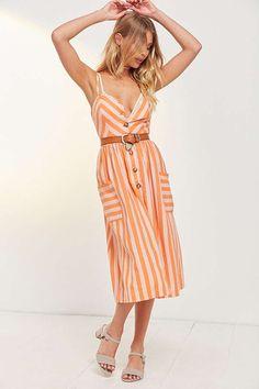 4b5634c308 Cooperative Emilia A-Line Button-Down Midi Dress