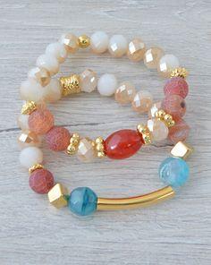Diy Jewelry, Beaded Jewelry, Jewelry Making, Beaded Bracelets, Jewelry Ideas, Stretch Bracelets, Gemstone Beads, Delicate, Lily