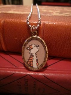 Calvin and Hobbes pendant