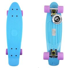 """22"""""""" Pastel Blue Fish Skateboard<<<< I would like to learn how to skateboard, just he basics though, none of those super awesome tricks."""