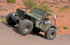 1942 Jeep Willys MB In Motion Three Quarter