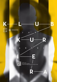 """Klub Kuriera"" Poster by Ivvanski Poland). Layout Design, Print Design, Web Design, Design Tech, Graphic Design Posters, Graphic Design Typography, Composition D'image, Plakat Design, Poster Design Inspiration"