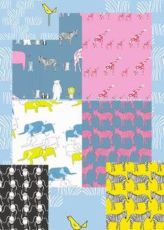 Zaza Zoo by Marissa and Creative Thursday and Andover Fabrics Half
