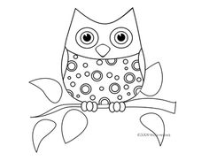 Tricia-Rennea, illustrator: An Owl for to Color