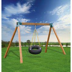 Kidgymz Classic Cedar Tire Swing with Lumber - KGCT