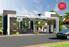 Villa Plots in Sarjapur Road:-- Looking where to invest your money? Plots for Sale in Sarjapur Road, Bangalore! Buy plots in Sarjapur Road from NBR Developers today! Make a smart investment! Main Gate Design, Door Gate Design, Entrance Design, Entrance Gates, House Entrance, Roof Design, Exterior Design, Grand Entrance, Apartment Entrance