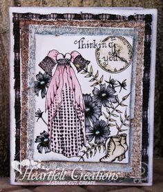 Heartfelt Creations   Distressed Dress Collage