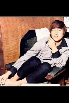 John Lennon and his cute feet ^.^