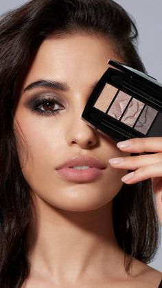 Get the look by using Lancôme Hypnôse Eyeshadow Palette, Hypnose Mascara & Teint Idole Ultra Wear Lancome Eyeshadow, Eyeshadow Makeup, Eyeshadow Palette, Neutral Eyeshadow, Natural Wedding Makeup, Wedding Hair And Makeup, Natural Makeup, Make Up Palette, Makeup Tips