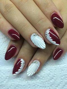 Winter Nails Designs - My Cool Nail Designs Winter Nail Designs, Christmas Nail Designs, Nail Art Designs, Xmas Nails, Christmas Nails, Pink Nails, Perfect Nails, Gorgeous Nails, Pretty Nails
