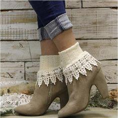 ORIGINAL  lace socks - ivory - Catherine Cole Studio  - 1