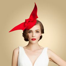 100% Australian Wool Womens Lady Vintage Fashion Red Wool Hair Pillbox Hat Bowknot Veil Felt Cocktail Party Wedding Socialite(China (Mainland))