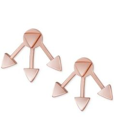 French Connection Rose Gold-Tone Triangle Jacket Stud Earrings  - Gold