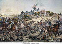 Battle Of Nashville, 1864 Photograph