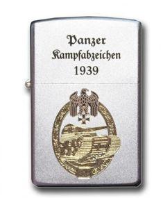 Zippo 13651 Feuerzeug Panzerkampfabzeichen - II WK, satin finish, bicolor