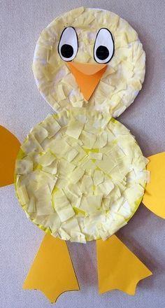 Tissue Paper Chicken Preschool Craft For Kids /mollymoo