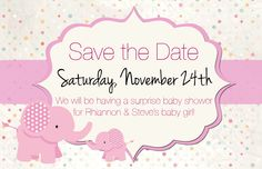 Save the date baby shower invitations paperinvite baby shower save the date pink and brown invitation pinterest filmwisefo