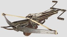 269: A heavy target crossbow with rope windlass : Lot 269