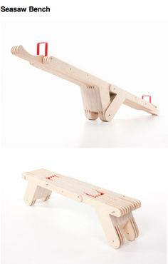 Seasaw Bench  Multipurpose bench!