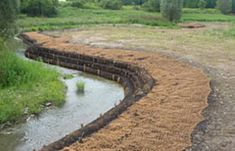 erosion control blanket Outdoor Ponds, Backyard Renovations, Erosion Control, Future Farms, Beach Properties, Water Management, River Bank, Coir, Yard Design