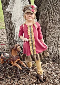 Persnickety Sylvia Dress Fall 201218 Months to 8 YearsMatching Hat, Headband & Leggings Available Too!Now in Stock!