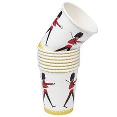 Set 8 Tea Party Cups Love London