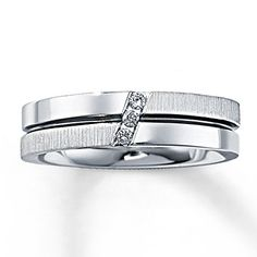 Mark's ring <3  Mens Diamond Ring 1/20 ct tw Round-cut  10K White Gold