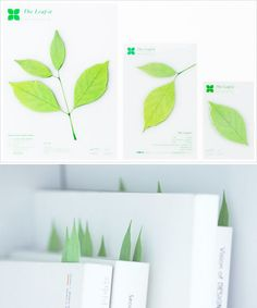 Leaf post it notes