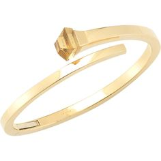 Gucci Pre-Owned: Gucci 18k Yellow Gold Bangle With Citrine (379443001) ($2,501) ❤ liked on Polyvore featuring jewelry, bracelets, gold, 18k bangle bracelet, yellow gold bangle, 18 karat gold jewelry, gold fine jewelry and gold hinged bracelet