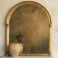Eloquence Renaissance Distressed Gold Mirror