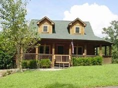 Lake Lure cabin rental - 3 sided covered porch and 2 levels of rear decks overlooking Hickory Nut Gorge Log Cabin Rentals, Vacation Cabin Rentals, Lake Lure, Gatlinburg Cabins, Cute House, Backyard Retreat, Fenced In Yard, My Dream Home, Game Room