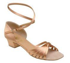1666 Girls' Sandal, Regular Fitting with Regulation Heels in Flesh Satin *** You can get more details here : Girls sandals