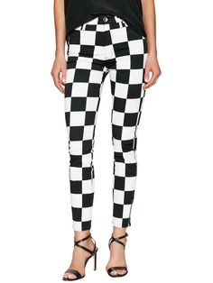 Checked New Fit Skinny Jean by Love Moschino at Gilt