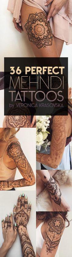 Mehndi Tattoo Designs by Veronica Krasovska | TattooBlend
