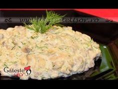 Reteta de Salata de Ciuperci cu Maioneza si Usturoi salata meze ve kanepe Tarifleri videolu tarif – The Most Practical and Easy Recipes Romanian Food, Croissants, Creative Food, White Mushrooms, Potato Salad, Mashed Potatoes, Garlic, Stuffed Mushrooms, Appetizers