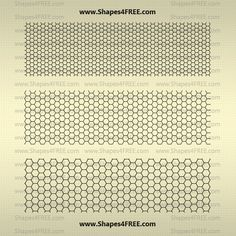Photoshop Patterns: 22 Hexagon Photoshop Patterns (PAT)