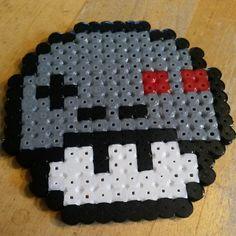 Gameboy Nintendo mushrrom perler beads by mariekawaii
