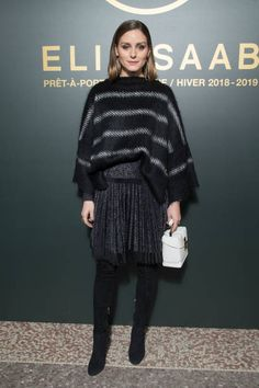Olivia Palermo attends the Elie Saab show as part of the Paris Fashion Week Womenswear Fall/Winter 2018/2019 on March 3 2018 in Paris France
