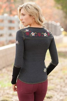 Winter Edelweiss - Reversible Henley
