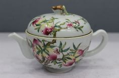 Chinese Beautiful Unique Famille Rose Porcelain Peaches Flagon | eBay