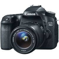 Canon EOS 70D DSLR with 18-55mm STM f/3.5-5.6 IS Lens