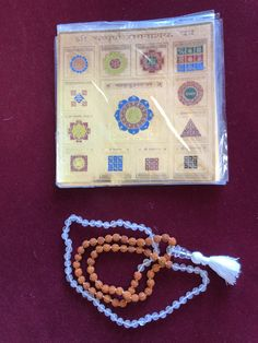 Vastu Sacred Geometry Yantra Love Rose Quartz Beads Bracelet