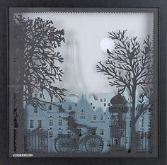 Diaporama de tableaux d'artistes en papier découpé