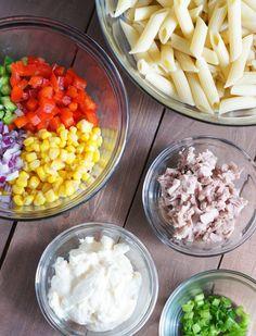 Tuna and Penne Pasta Salad | SmartLittleCookie...