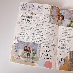 just a smol studyblr. Bullet Journal Kpop, Bullet Journal Aesthetic, Bullet Journal Ideas Pages, Bullet Journal Spread, Bullet Journal Inspiration, Bullet Journals, Journal Writing Prompts, Study Journal, Journal Layout