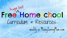 Free Homeschool Curriculum and Resources on MoneySavingMom.com