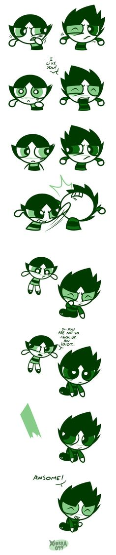 Powerpuff Girls : Buttercup and Butch