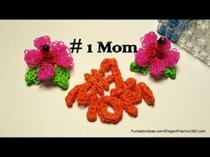 Rainbow Loom #1 MOM Charm (Mother's Day). Designed and loomed by Elegant Fashion 360. Click photo for YouTube tutorial. 04/28/14.