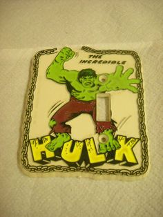 Vintage Light Switch Plate Incredible Hulk 1979 Marvel Comics Hard Plastic   eBay