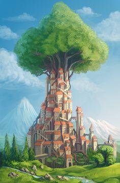Treetown by Sedeptra.deviantart.com on @deviantART